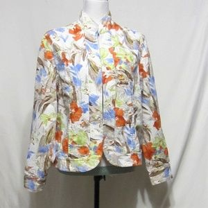 Coldwater Creek, Size 16, Jacket, Embroidery Print